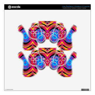 Psychedelic Abstract Pattern: Decal For PS3 Controller