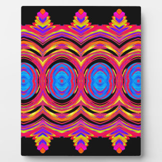 Psychedelic Abstract Pattern: Plaque