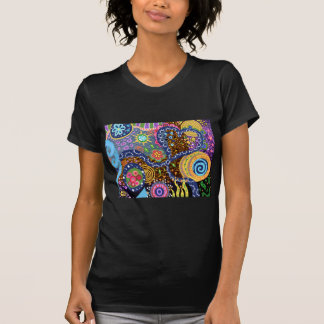 Psychedelic abstract pattern t-shirts