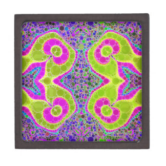 Psychedelic Abstract Twirls Gift Box