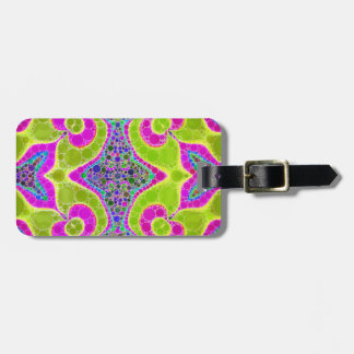 Psychedelic Abstract Twirls Tag For Luggage
