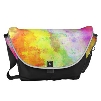 Psychedelic Abstract Watercolor Art Messenger Bag