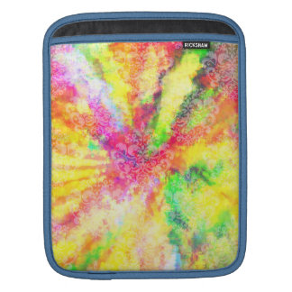 Psychedelic Abstract Watercolor Art Sleeve For iPads