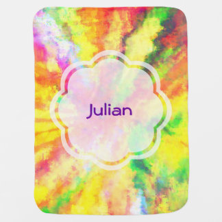 Psychedelic Abstract Watercolor Art Swaddle Blanket