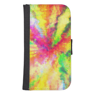 Psychedelic Abstract Watercolor Art Wallet Phone Case For Samsung Galaxy S4