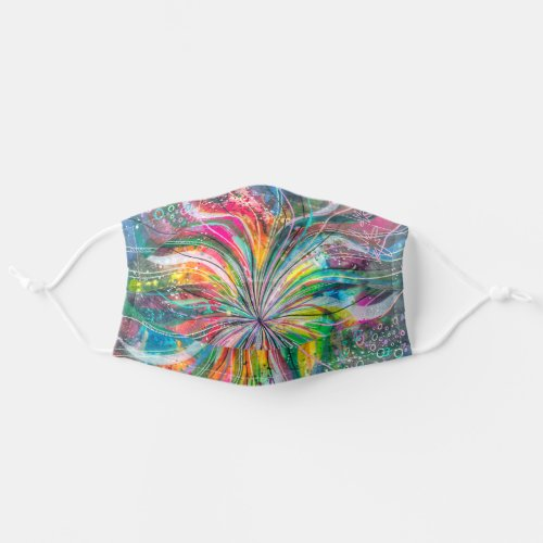 Psychedelic Abstract Watercolor Drawing Adult Cloth Face Mask