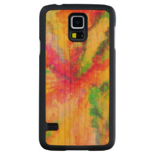 Psychedelic Abstract Watercolor Painting Carved® Cherry Galaxy S5 Slim Case