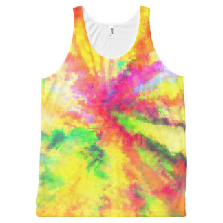 Psychedelic Abstract Watercolor Tie Dye Art All-Over-Print Tank Top