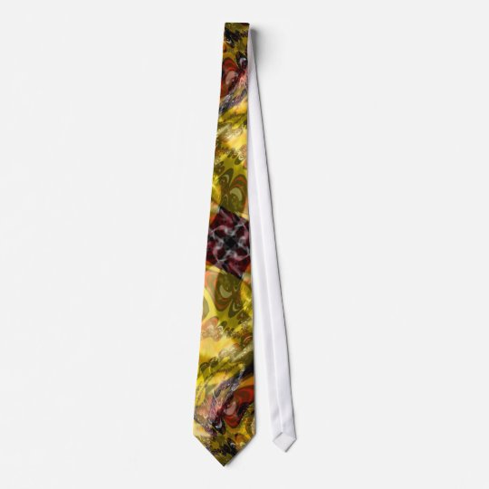 Psychedelic Abstract Yellow Tie