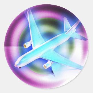 Psychedelic Aeroplane Sticker