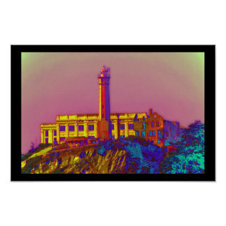 Psychedelic Alcatraz Print