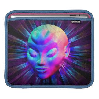 Psychedelic Alien Meditation iPad Sleeves