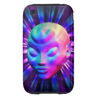 Psychedelic Alien Meditation iPhone 3G/3Gs Cases iPhone 3 Tough Case