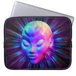 Psychedelic Alien Meditation Laptop Sleeve