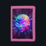 """Psychedelic Alien Meditation Wallet<br><div class=""""desc"""">A Strange,  Mystic and Psychedelic Alien Portrait on Cosmos... He seems to be in telepathic communication with other Worlds...  3D Digital Art Design.</div>"""