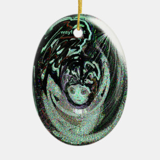 Psychedelic Alien - Nite & Day Ornament