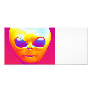 Psychedelic Alien Rack Card
