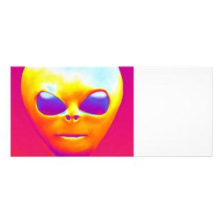 Psychedelic Alien Rack Card
