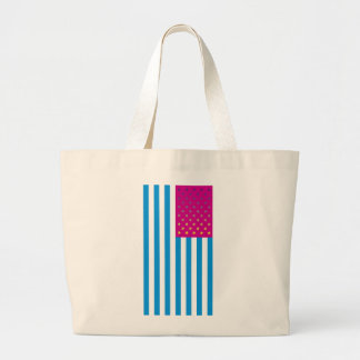 Psychedelic American Flag Large Tote Bag