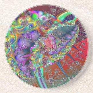 Psychedelic amoeba sandstone coaster