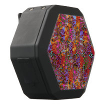 Psychedelic Animal Print Patterns Black Bluetooth Speaker