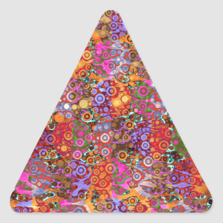 Psychedelic Animal Print Patterns Triangle Sticker