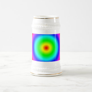 Psychedelic Art Gifts: Funky Rainbow Circles Beer Stein