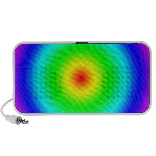Psychedelic Art Gifts: Funky Rainbow Circles Portable Speaker