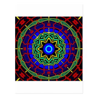 psychedelic art postcard