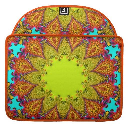 Psychedelic Aztec Sunflower  Macbook Pro Laptop Sleeve For MacBooks