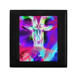 Psychedelic Baphomet III Keepsake Box