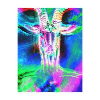 Psychedelic Baphomet IV Canvas Print