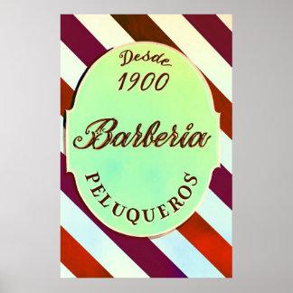 psychedelic barber shop sign Print