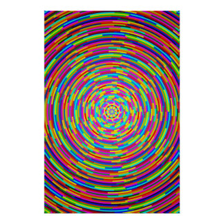 Psychedelic Bars Poster