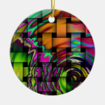 Psychedelic Basket Weave Ornament