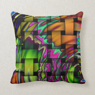 Psychedelic Basket Weave Throw PIllow