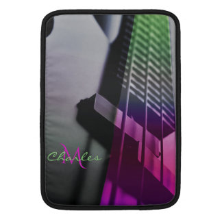 Psychedelic Bass Guitar Monogram Music Sleeve