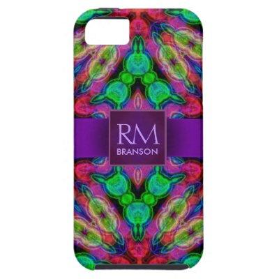 Psychedelic Batik Monogram Case-Mate™ iPhone 5 Covers