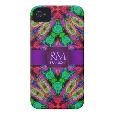 Psychedelic Batik Monogram iPhone4 Case-Mate™ casemate_case