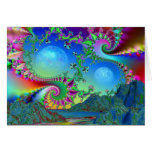 Psychedelic bay greeting card