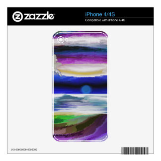 Psychedelic Beach Skin For The iPhone 4