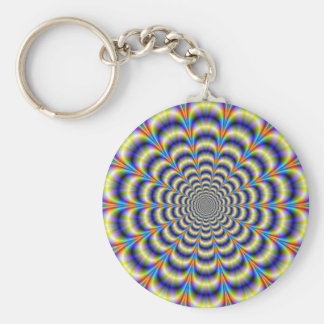 Psychedelic Beat Revisited Keychain