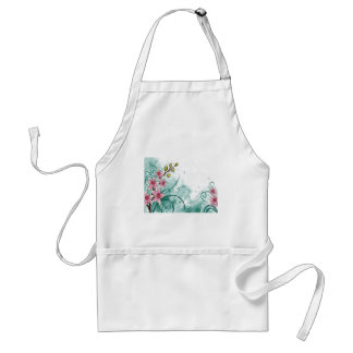 psychedelic beautiful flower abstract adult apron