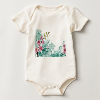 psychedelic beautiful flower abstract baby bodysuit
