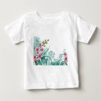 psychedelic beautiful flower abstract baby T-Shirt