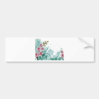 psychedelic beautiful flower abstract bumper sticker
