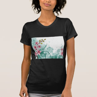 psychedelic beautiful flower abstract T-Shirt
