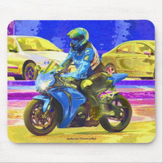 Psychedelic Biker Motorcycle Fantasy Art Mousepad