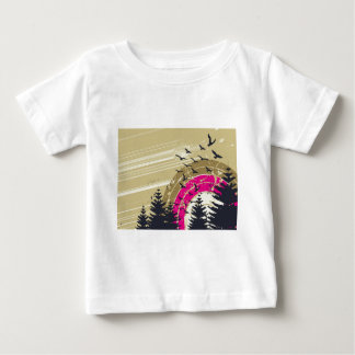 psychedelic birds south abstract t shirt