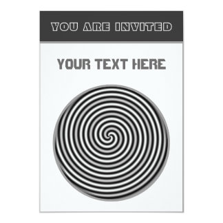 Psychedelic Black and White Customizable 5x7 Paper Invitation Card